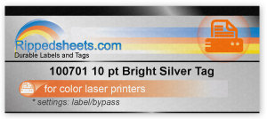 Bright Silver Tag for color  laser printers