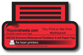 Laser Printable Weatherproof Waterproof Outdoor Laser Printable Tag