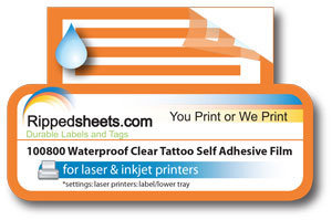 Clear Tattoo Self Adhesive
