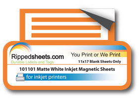 Matte White Inkjet Magnetic Sheets