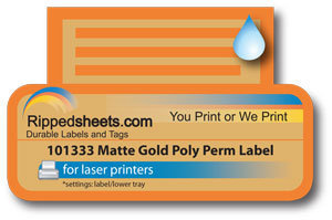 photo relating to Gold Printable Labels identify 101333 - Watertight Matte Gold Lasting Adhesive Labels