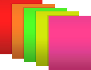 101901 fluorescent red orange green chartreuse and pink paper