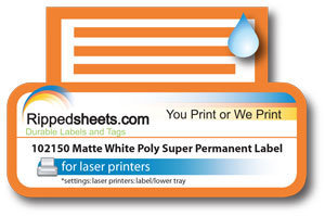 Matte Polyester Label