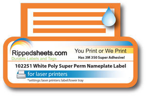 UL White Polyester Label