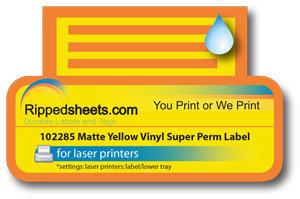 102285 - Outdoor Matte Waterproof Vinyl Super Permanent