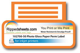 Photo Gloss Paper Permanent Label