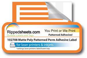 Matte Paper Permanent Patterned Adhesive Labels