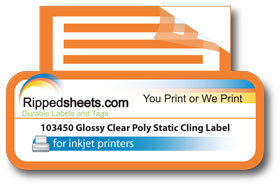 clear polyester static cling