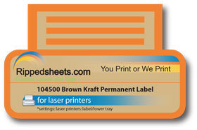 104500 - Brown Kraft Paper Permanent Adhesive Label