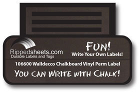 Chalkboard Permanent Stick Vinyl Label Chalk Black Rewritable Labels