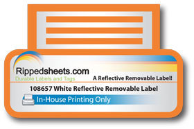 Printed White Reflective Removable Label