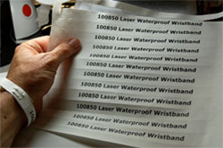 Custom Tyvek wristbands - Laser Printable