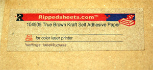 Brown Kraft Adhesive Paper Tan Self Adhesive Laser Printable
