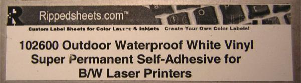 102600 - Outdoor Waterproof Vinyl Super-Permanent Adhesive