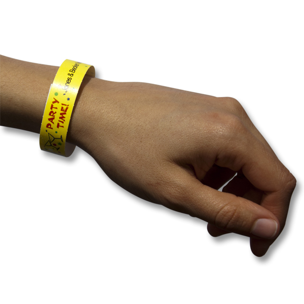 Punchy image within printable wristband